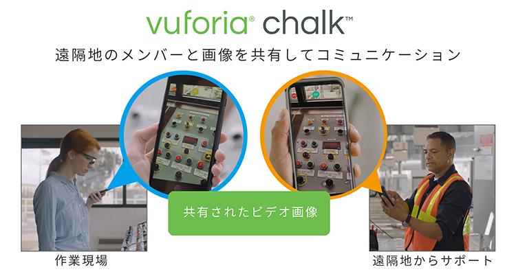 PTC Vuforia Chalkによるビデオ画像を共有した遠隔サポートのイメージ