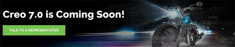 PTC Creo 7.0 Coming soonページの画像